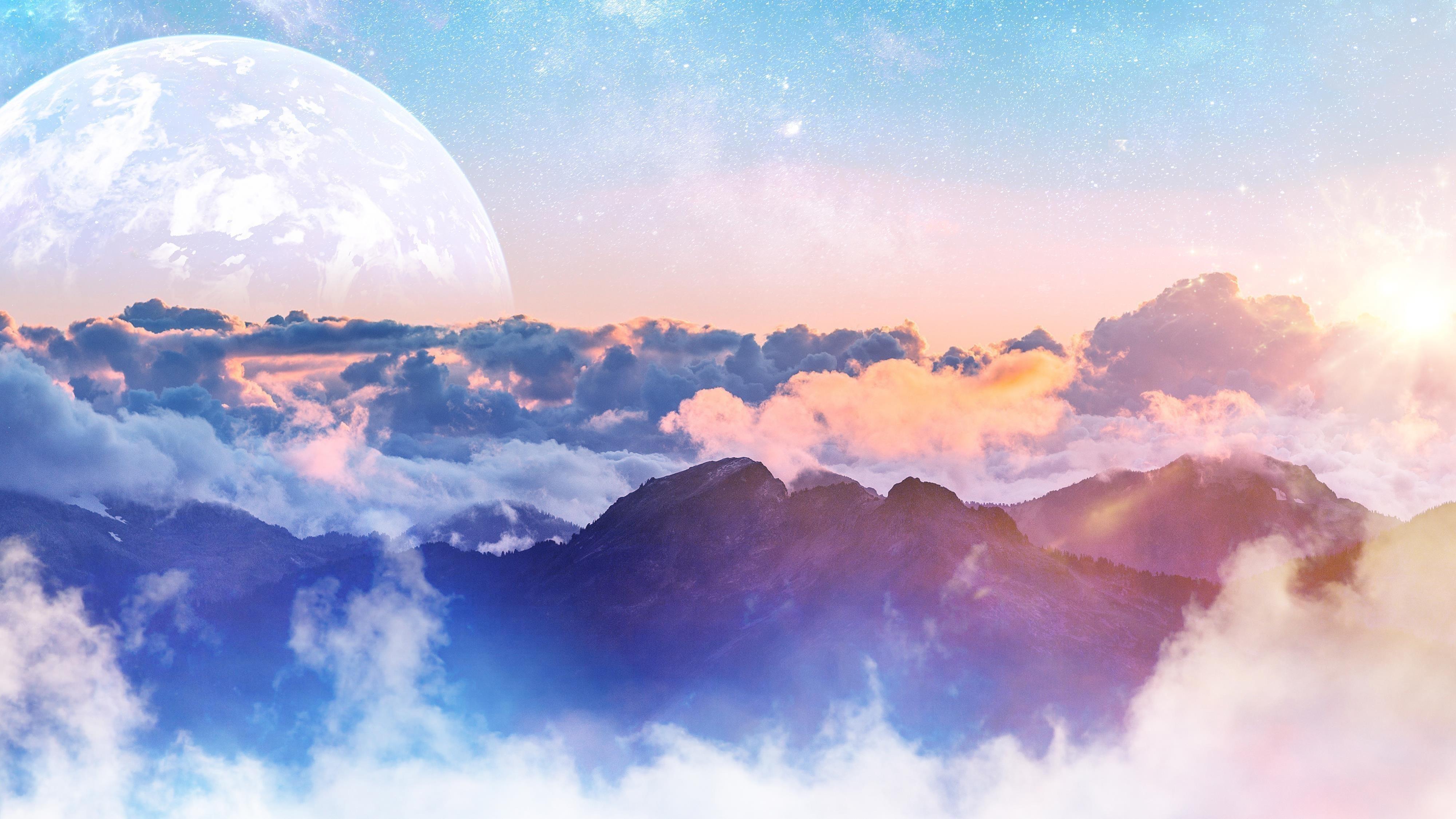 Над облаками обои скачать
