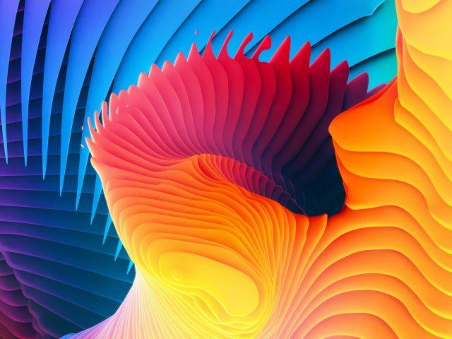 Абстрактный желтый фиолетовый и синий 3d узор