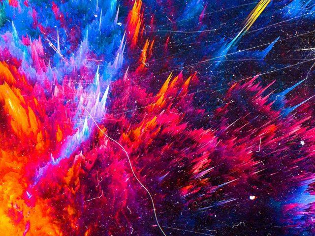 Цвет всплеск горы абстракция абстракция