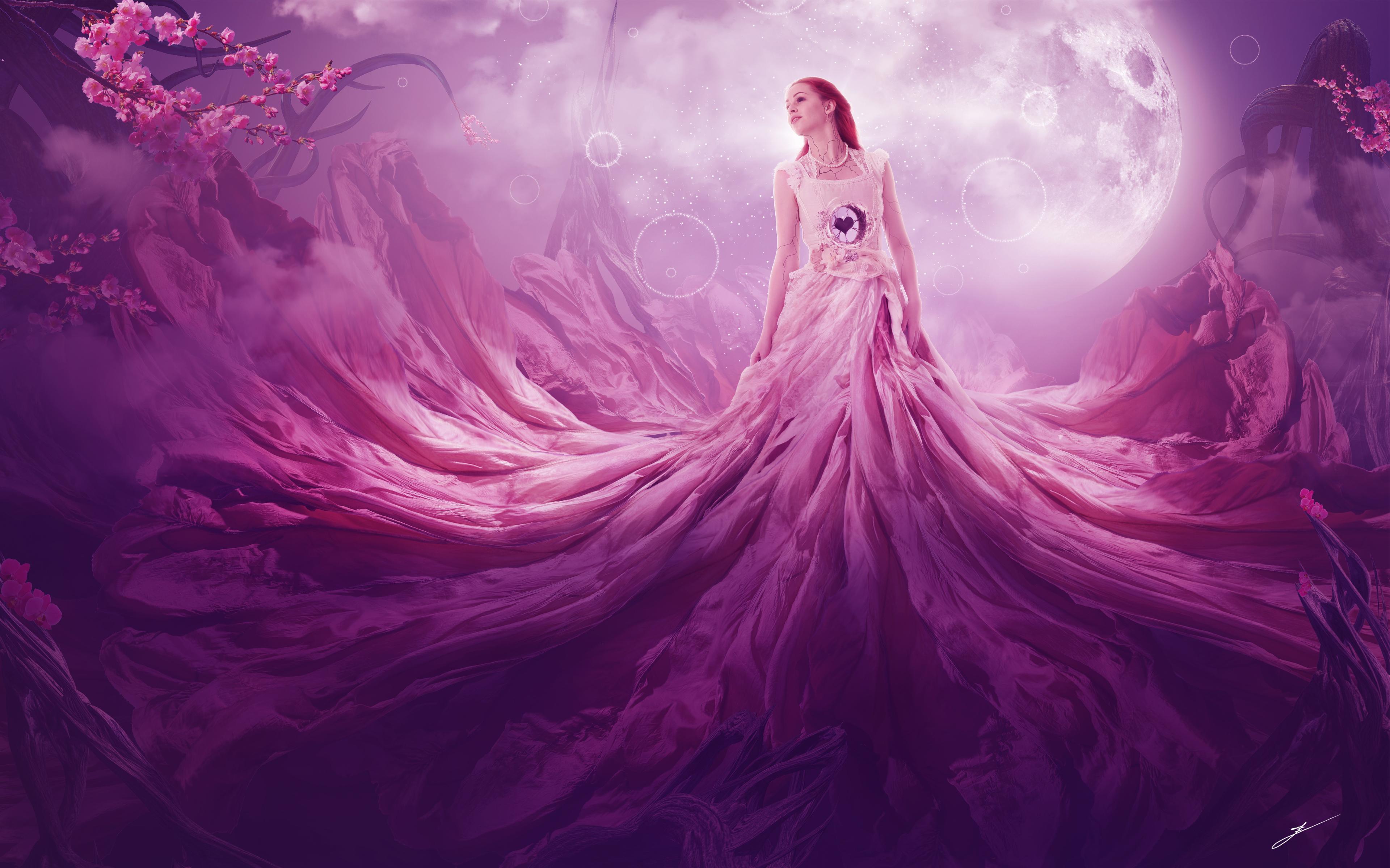 Розовая фантазия обои скачать
