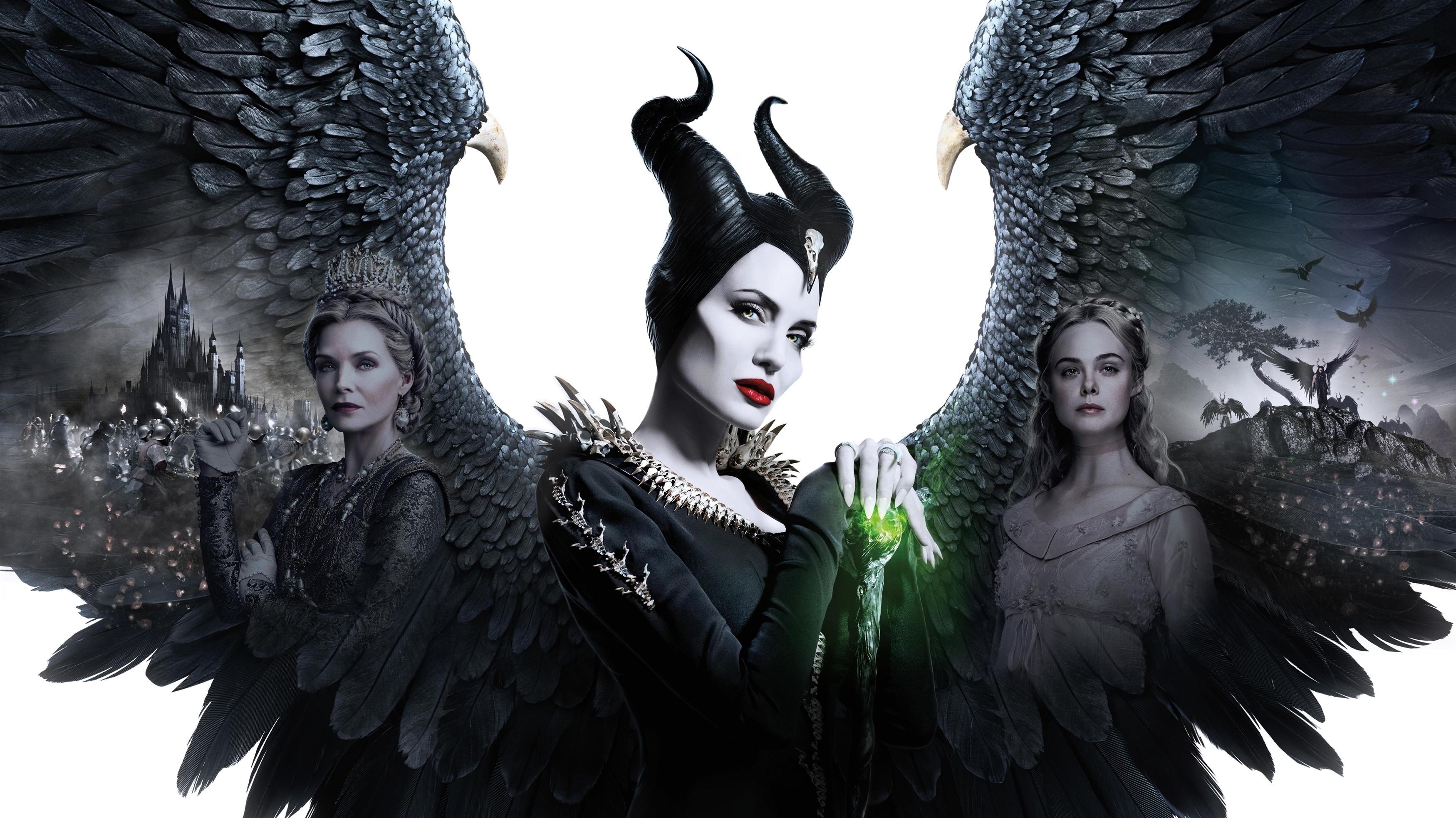 Малефисента хозяйка зла Анджелина Джоли 2019 обои скачать