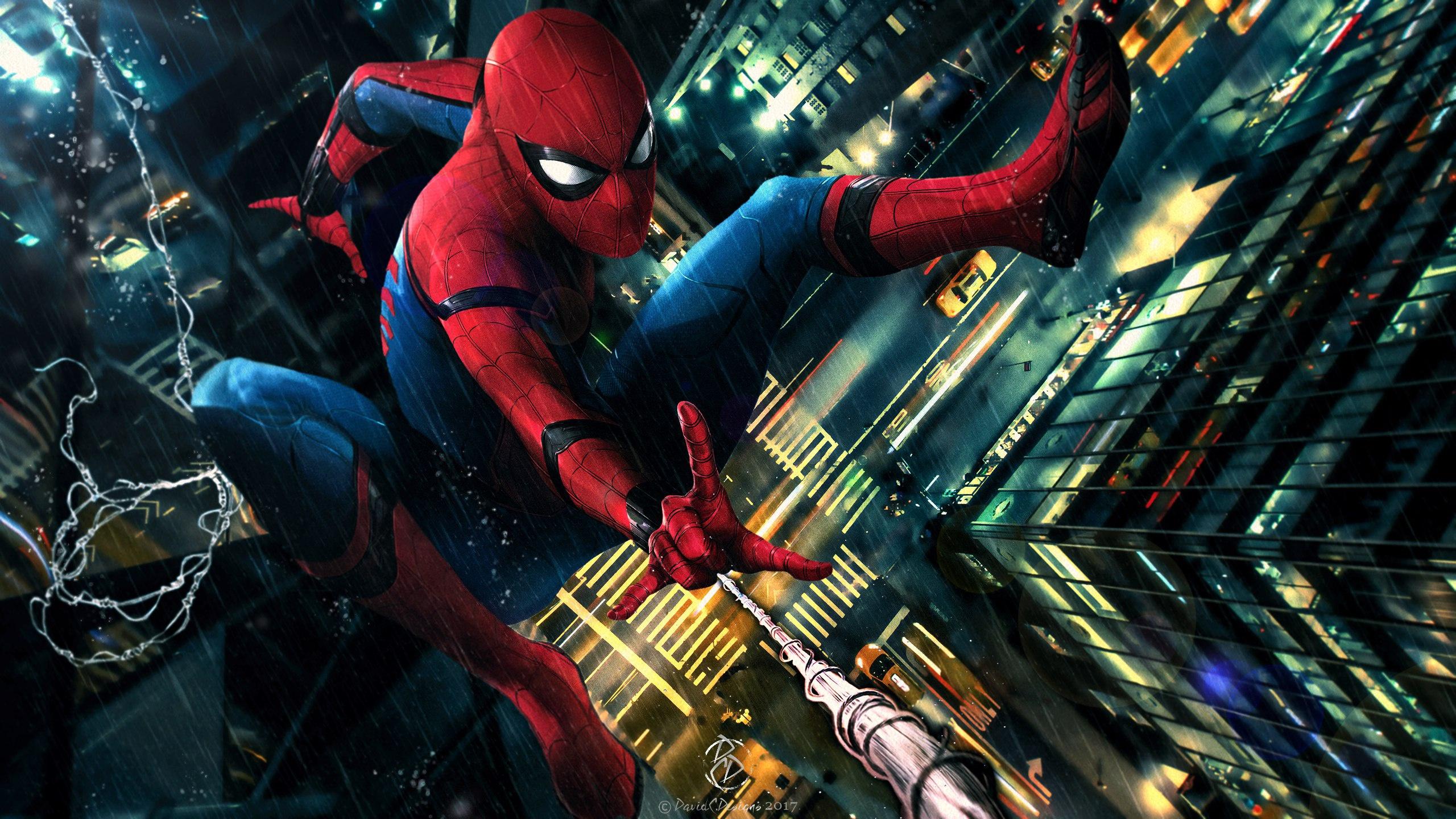 Человек паук возвращение на родину вентилятор искусство обои скачать