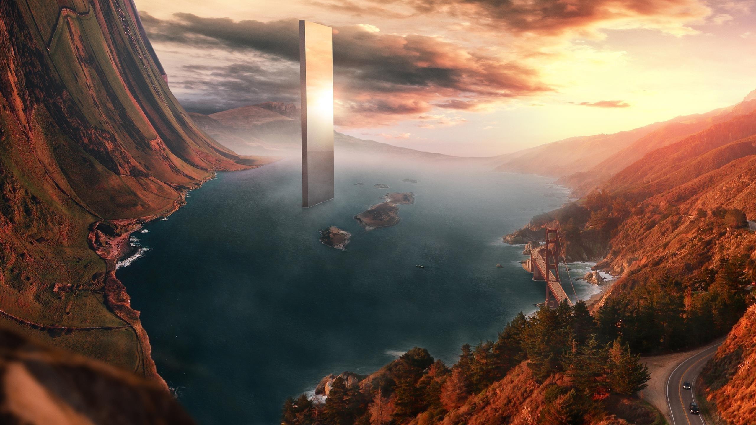 Сюрреалистический пейзаж обои скачать