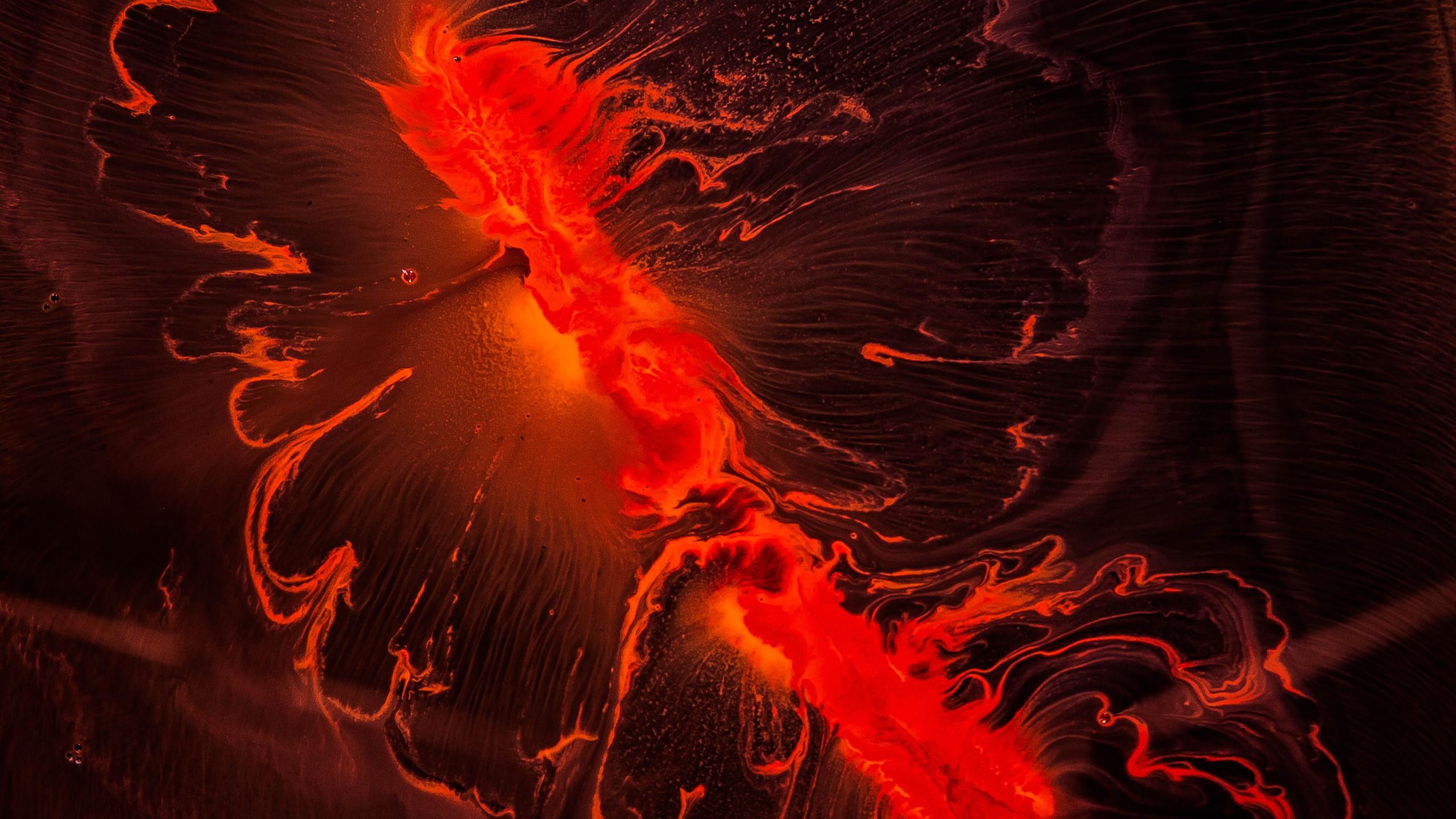 Вулкан красный обои скачать