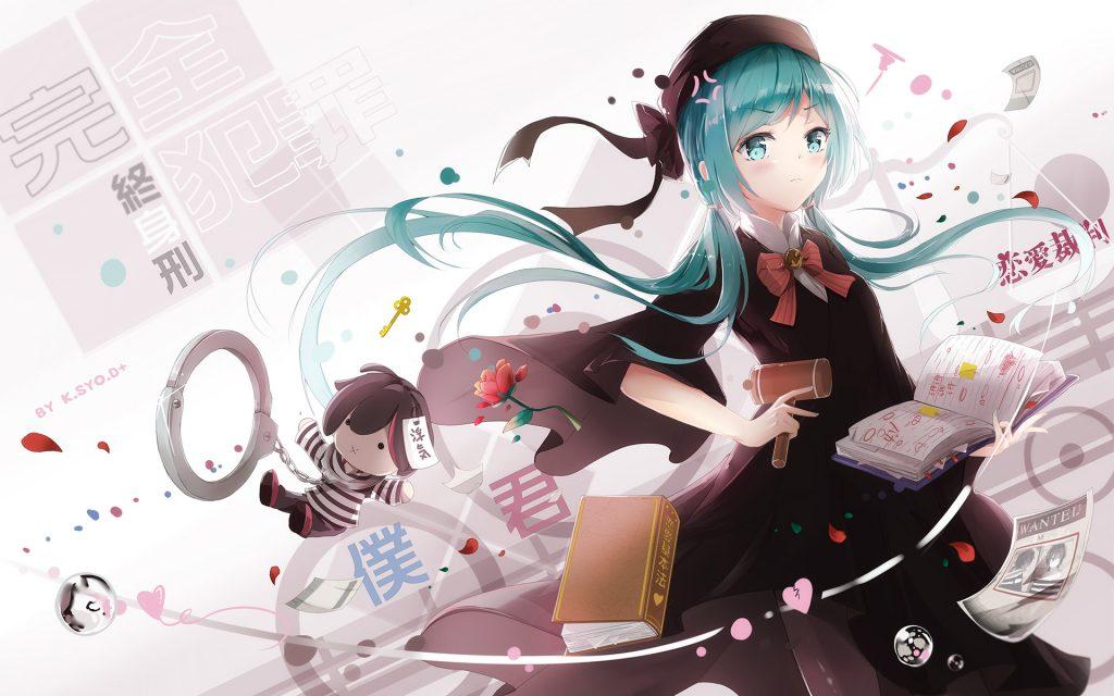 Vocaloid хацунэ Мику. обои скачать