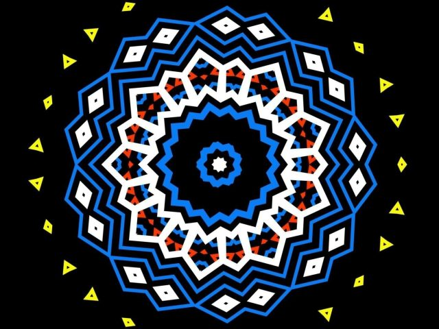 Желтый синий оранжевый черный геометрические фигуры абстрактные