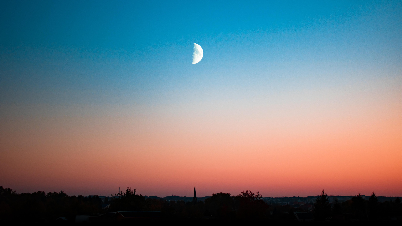 Лунное небо обои скачать