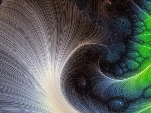 Зелено-серый ажурный художественный узор абстрактный