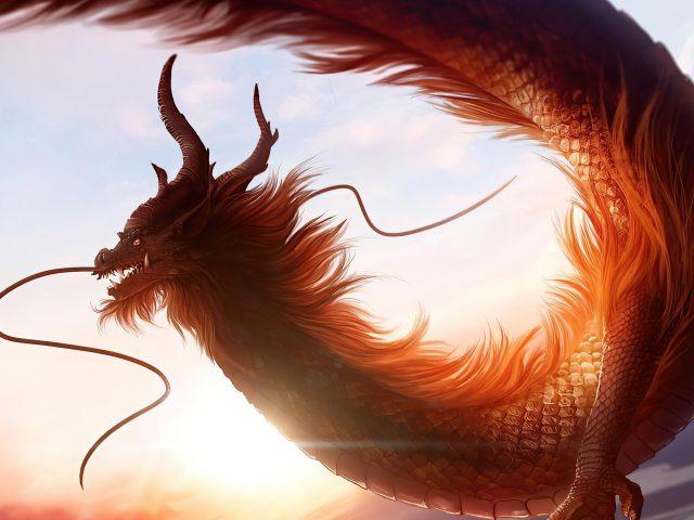 Фантазия белый дракон