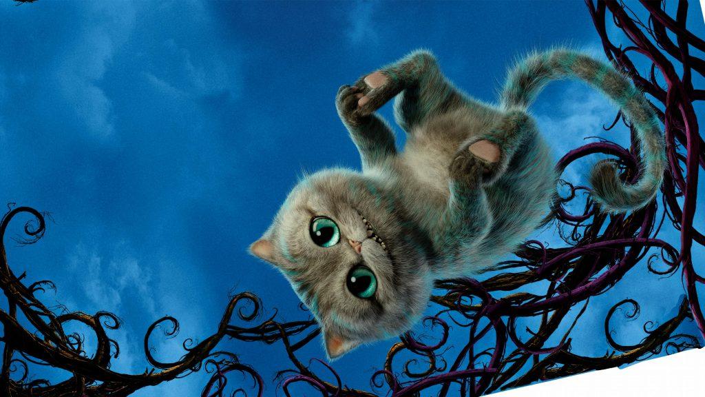 Чеширский кот Алиса в Зазеркалье. обои скачать