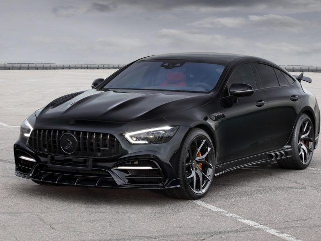 Черный топкар mercedes-amg gt 63 s 4matic+ 4-дверный купе inferno 2020 4 автомобиля