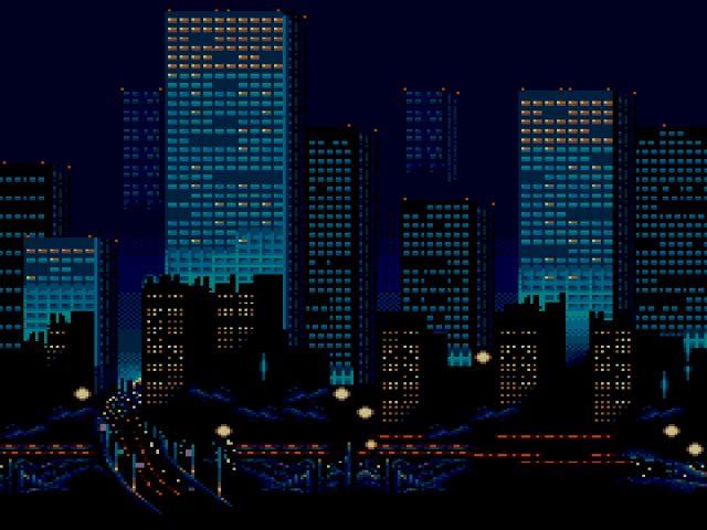 Городские ночные огни