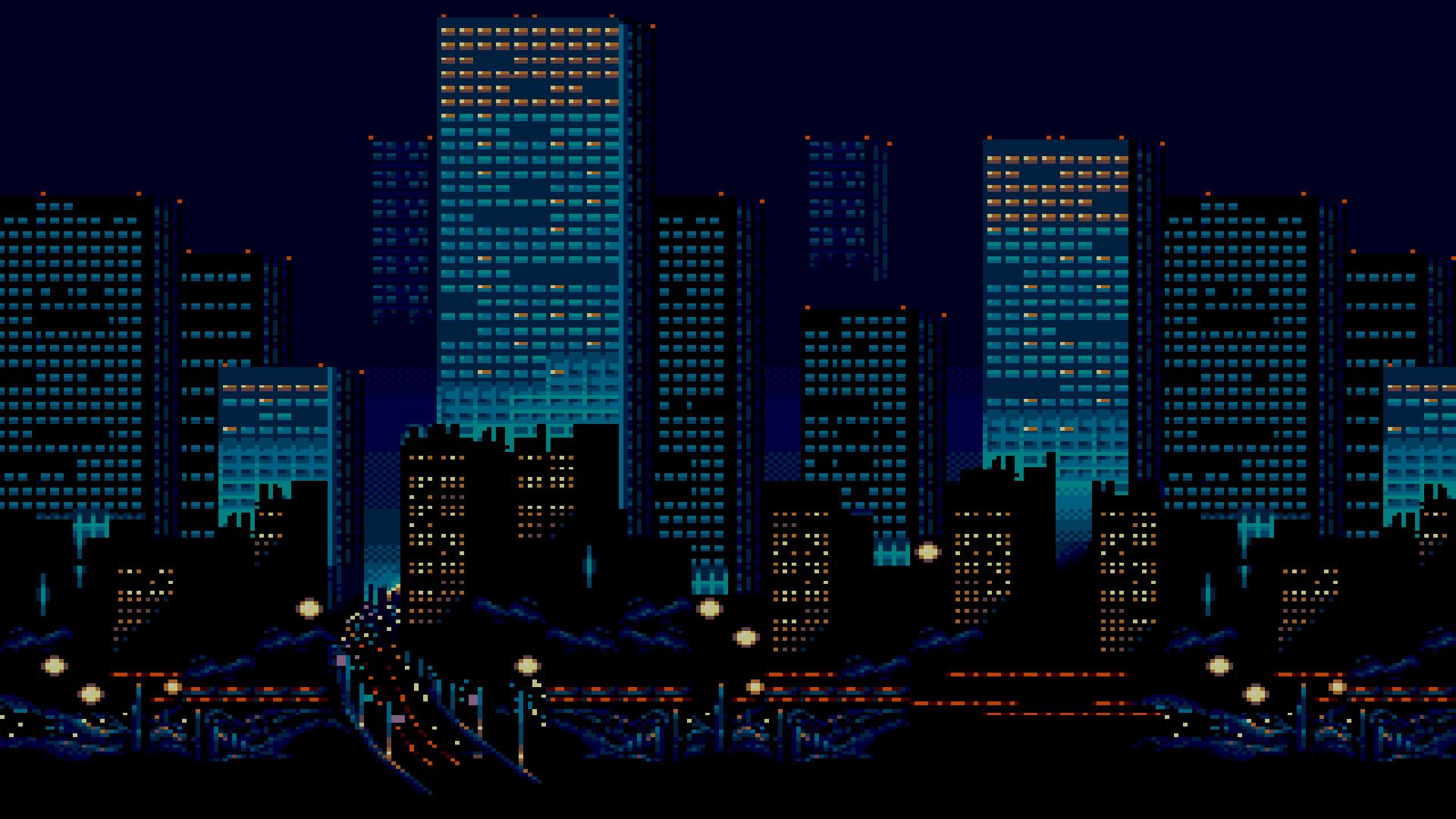 Городские ночные огни обои скачать