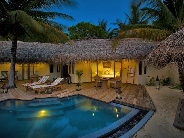 Бассейн,  отель,  Мальдивы,  экстерьер