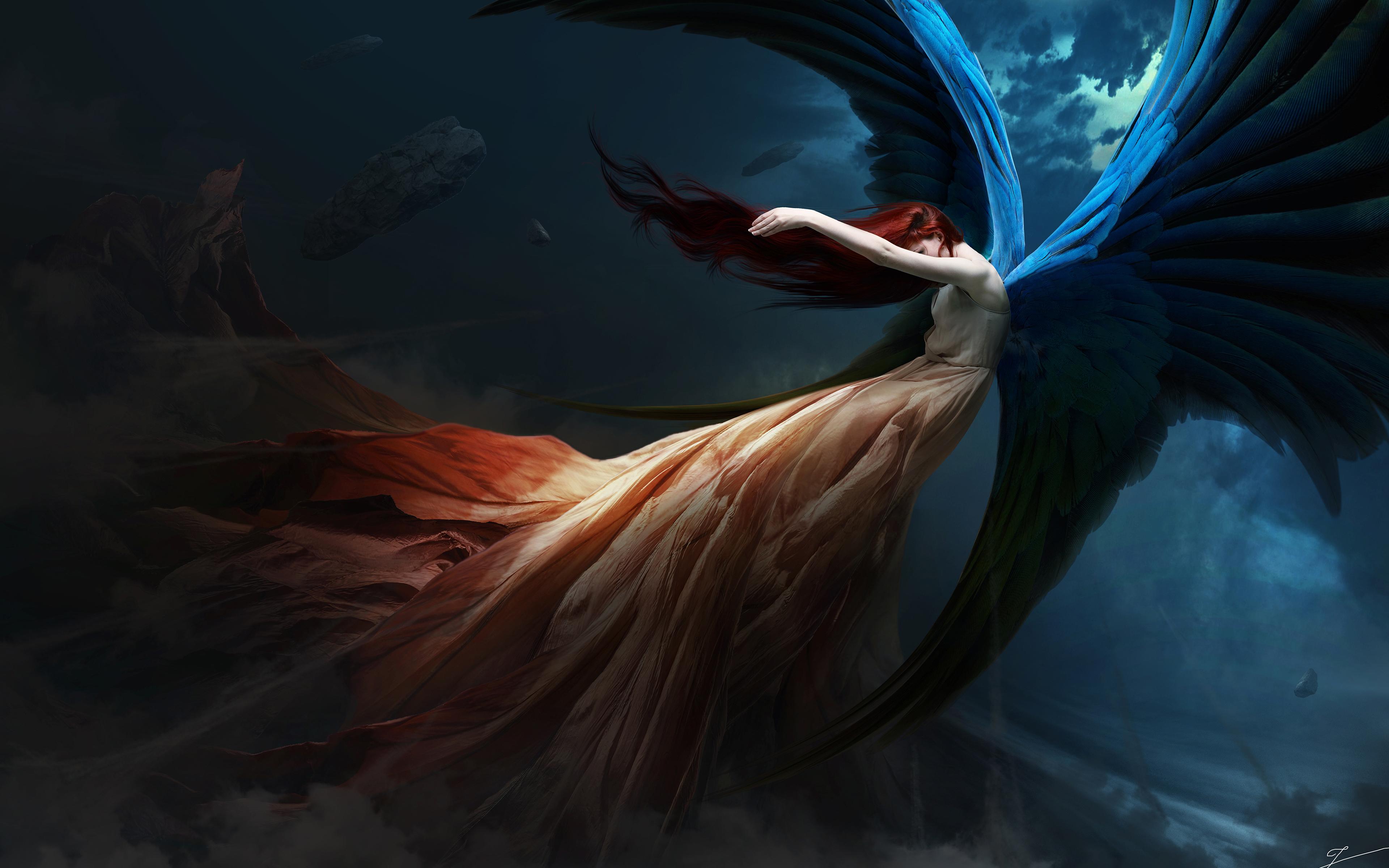Fallen angel обои скачать