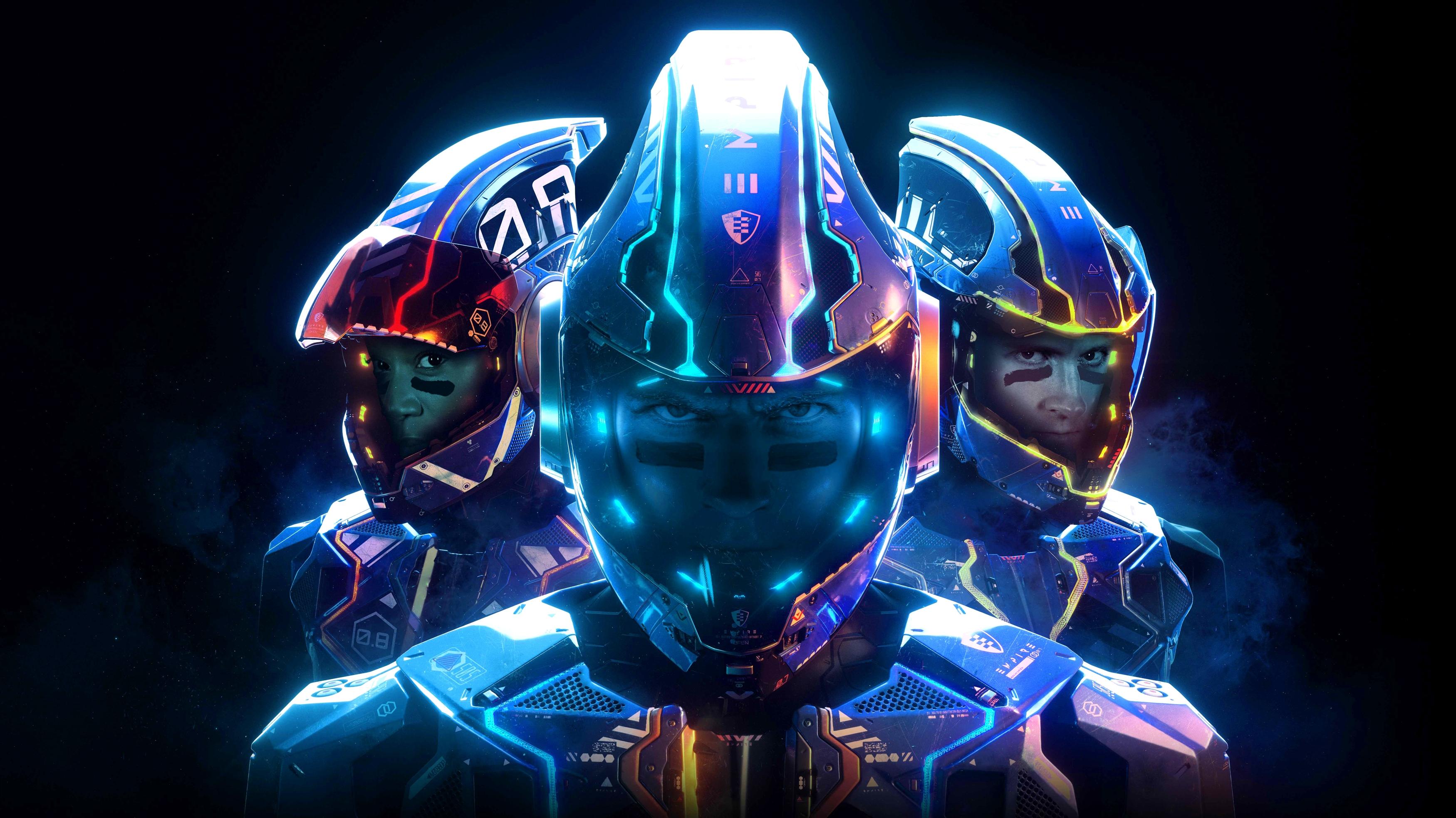 Лазерная Лиги Е3 4к 8к. обои скачать