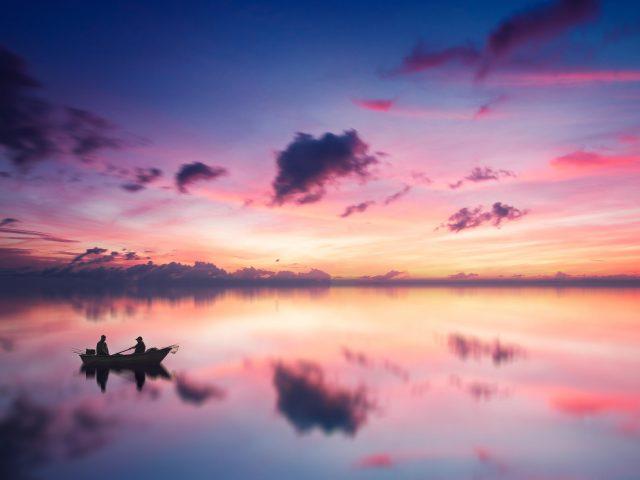 Послесвечение закат горизонт