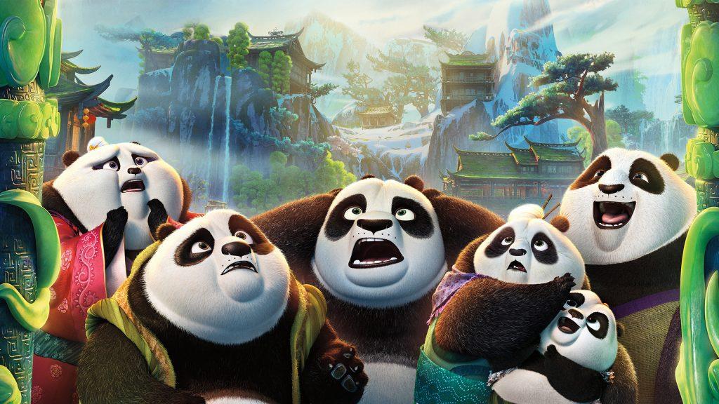 Кунг-фу Панда 3 семьи по. обои скачать