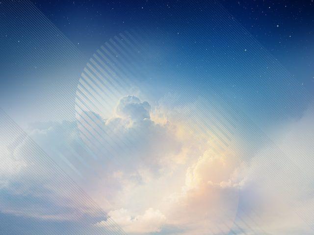 Голубое небо samsung Galaxy Примечание 8 акций