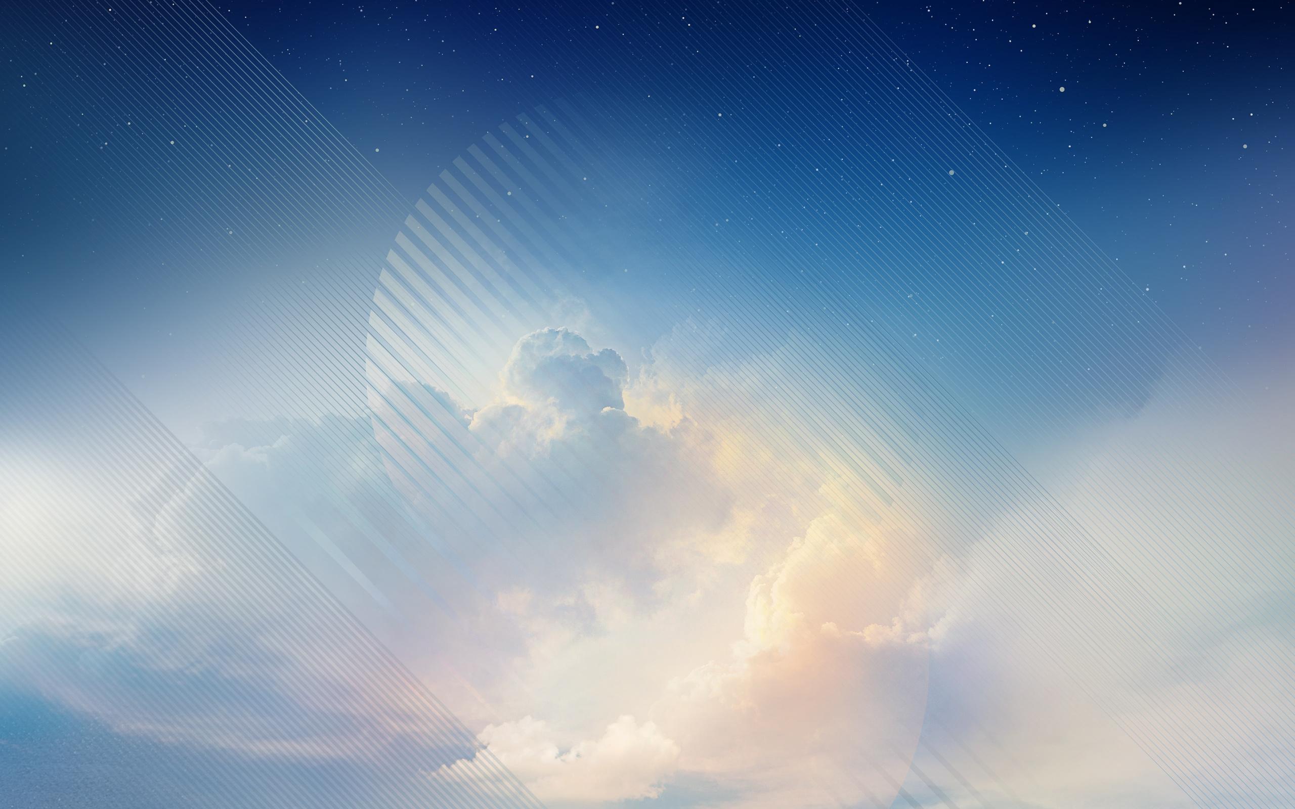 Голубое небо samsung Galaxy Примечание 8 акций обои скачать