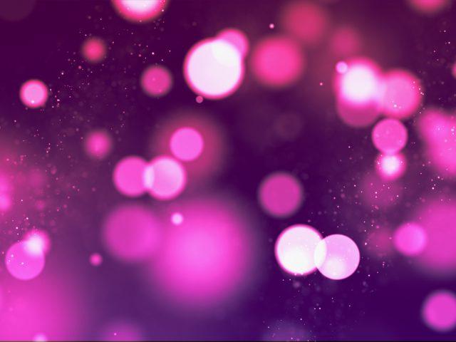Розовые огни боке