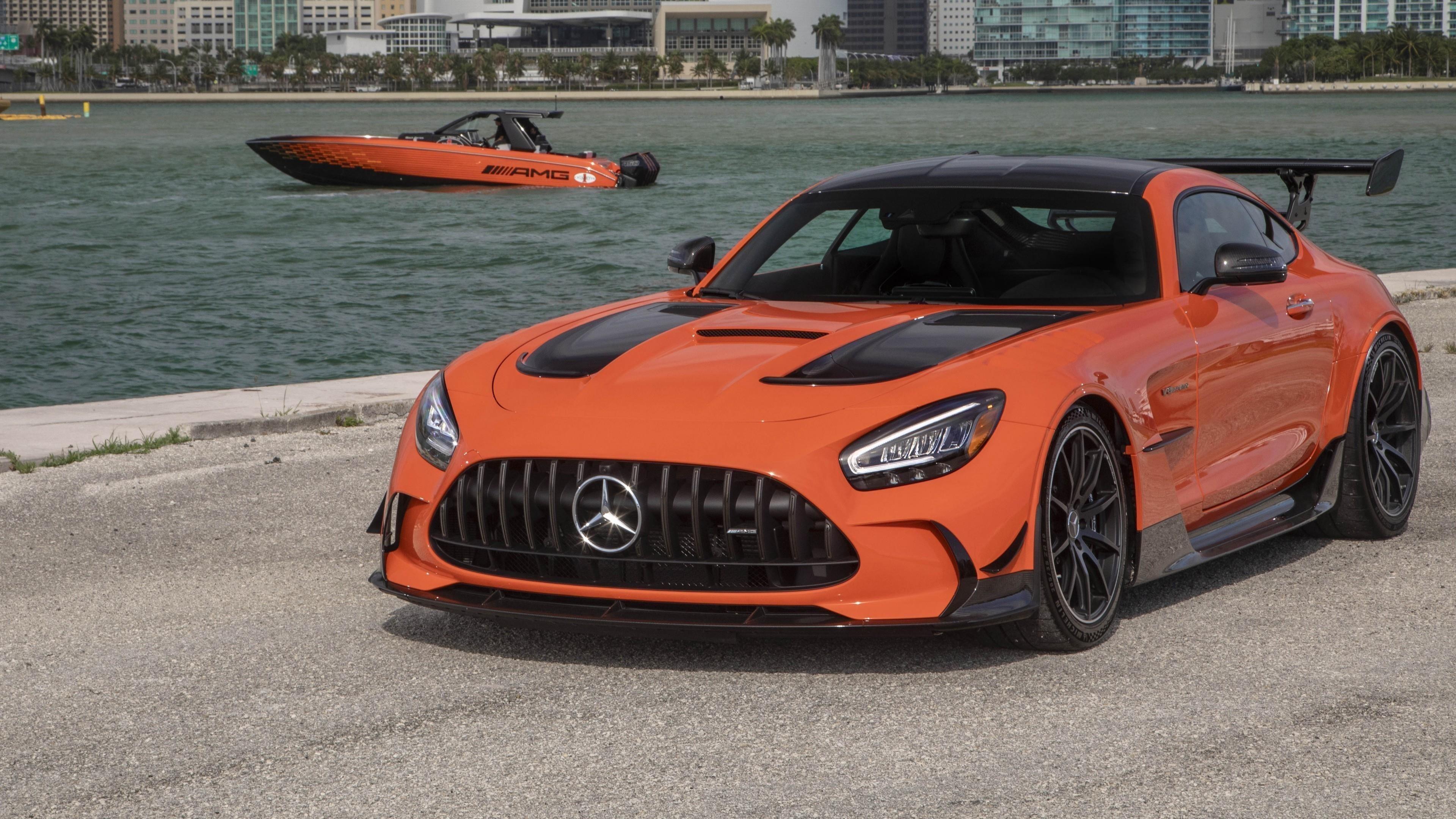 Mercedes amg gt черная серия 2021 3 автомобиля обои скачать