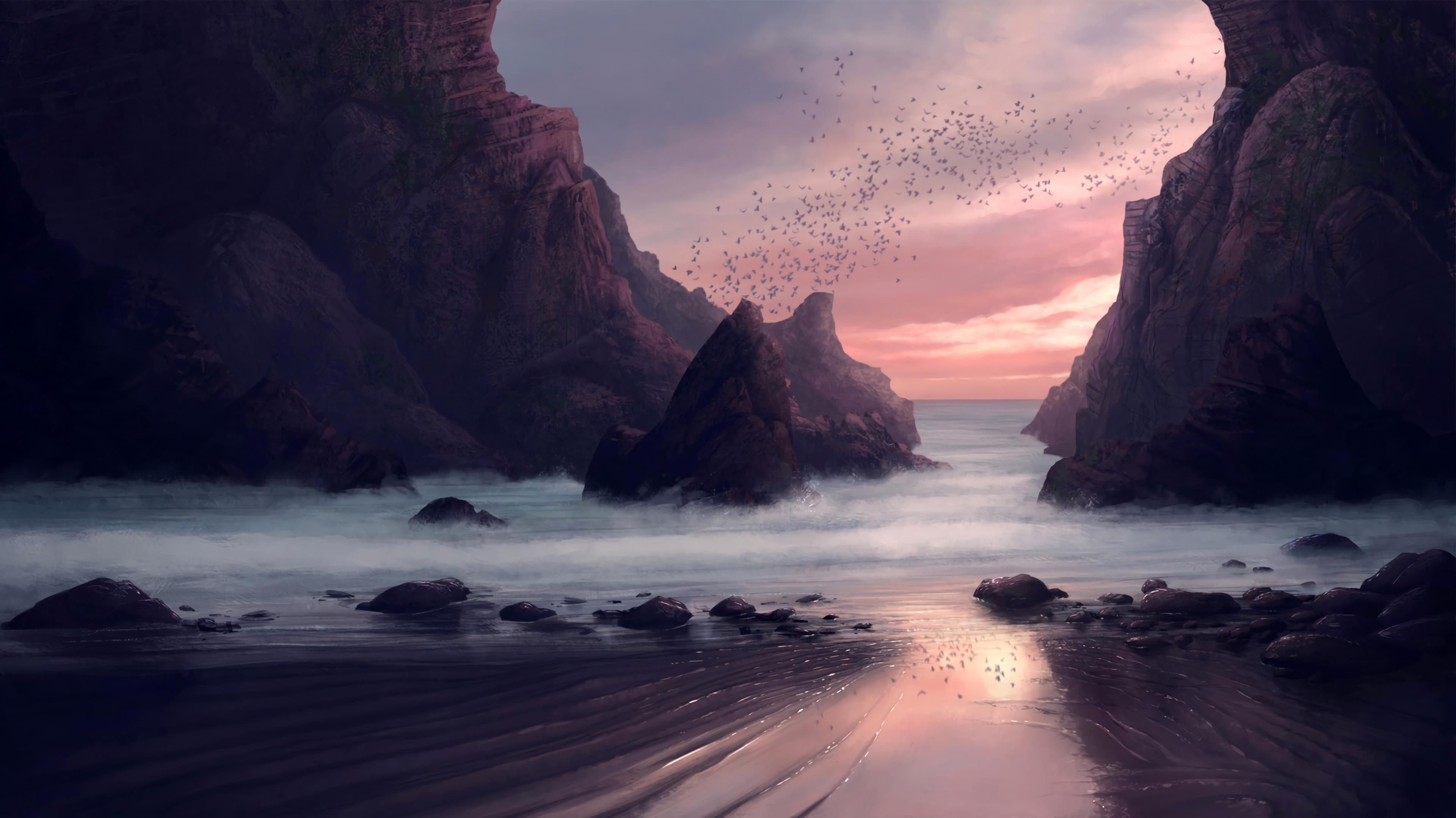 Скрытый пляж обои скачать