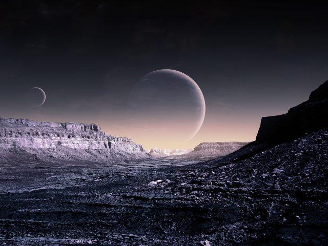 Blue Moon,  WP Version,  небо,  планеты