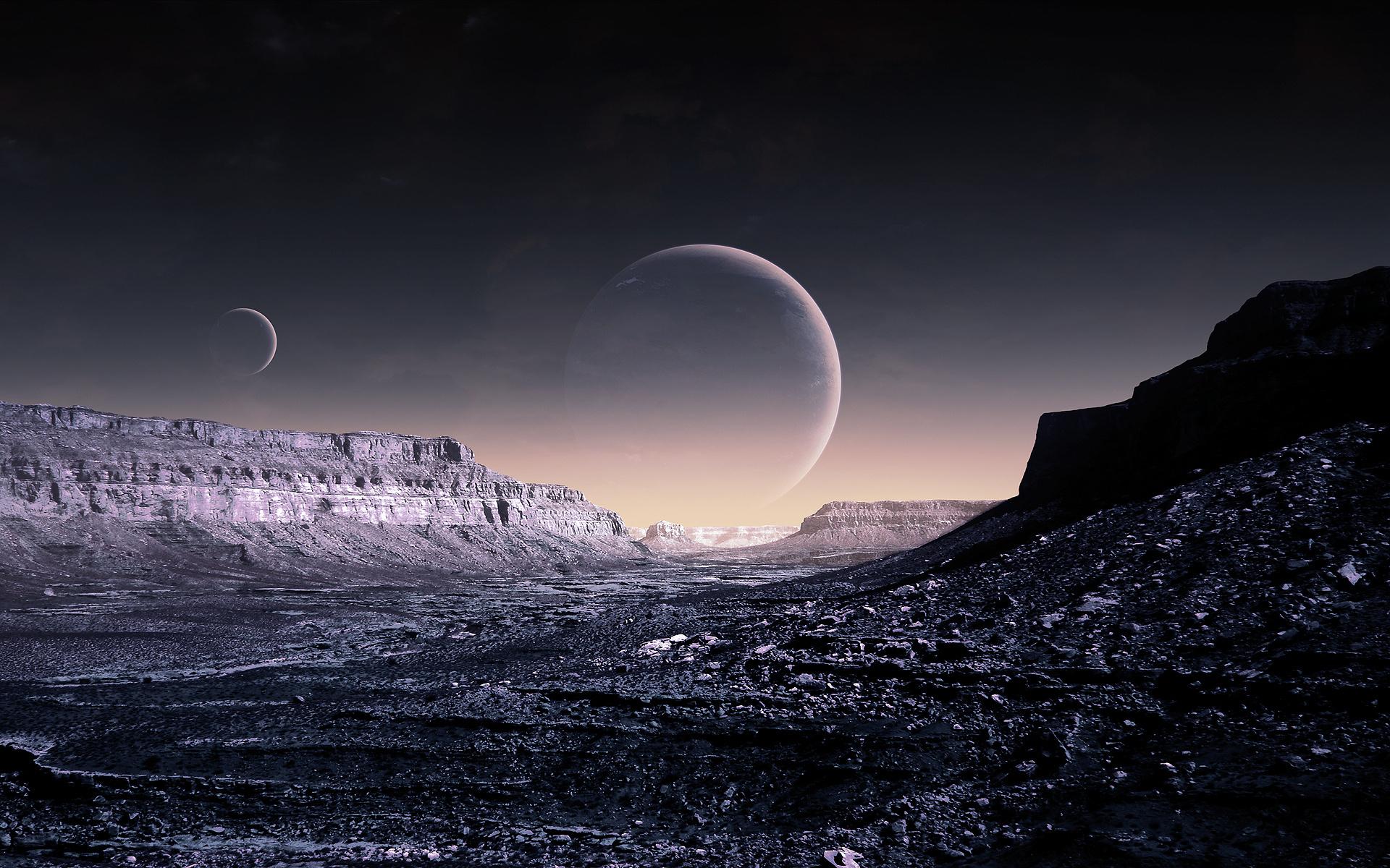 Blue Moon, WP Version, небо, планеты обои скачать