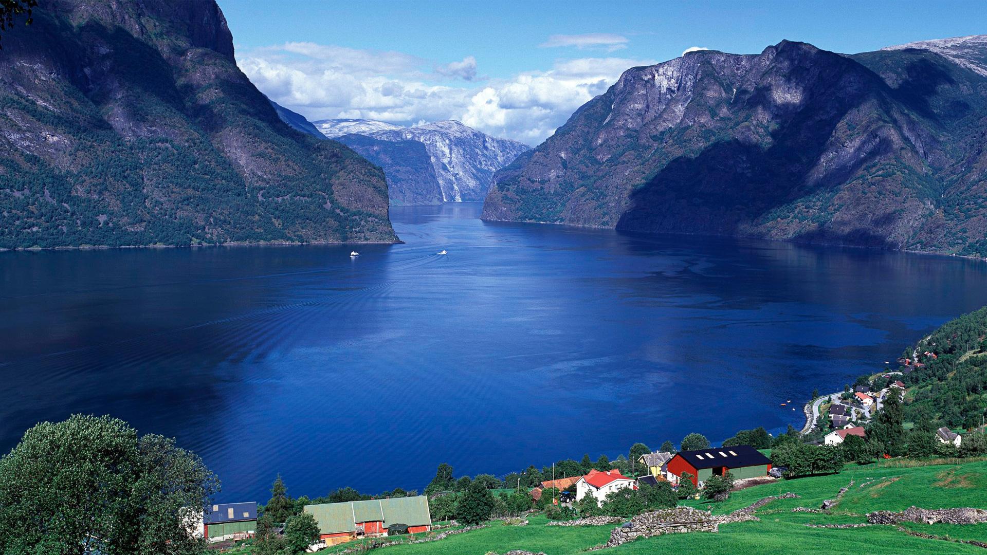 Фьорды Норвегии. обои скачать