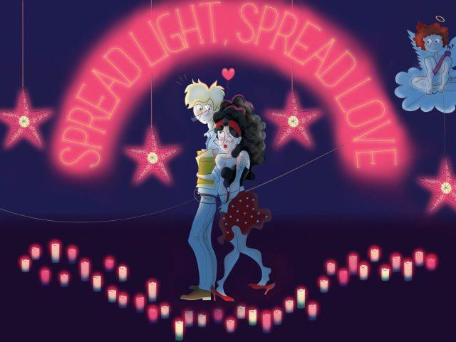 14 февраля распространение любовной пары