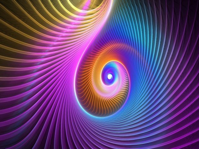 3D яркий фрактал абстрактный перо