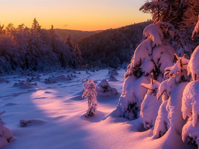Зимний восход солнца