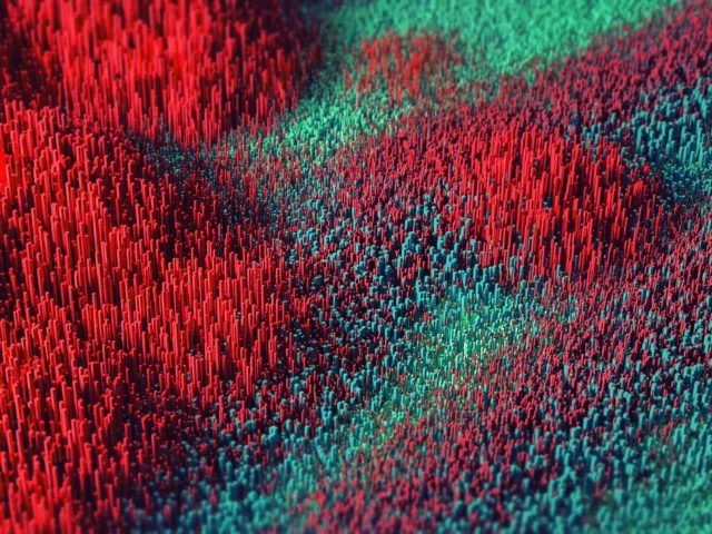 Красные зеленые иглы абстрактные