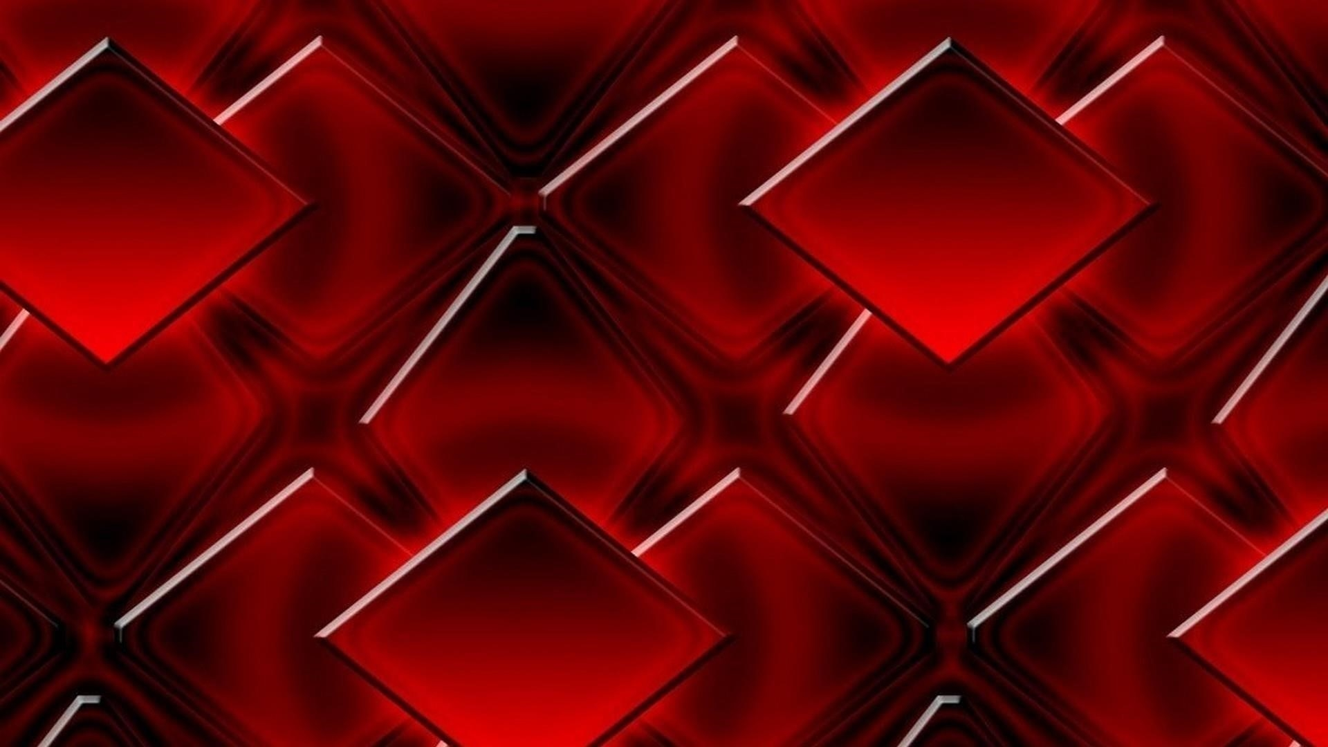 3d красные кубики геометрические фигуры абстрактные обои скачать
