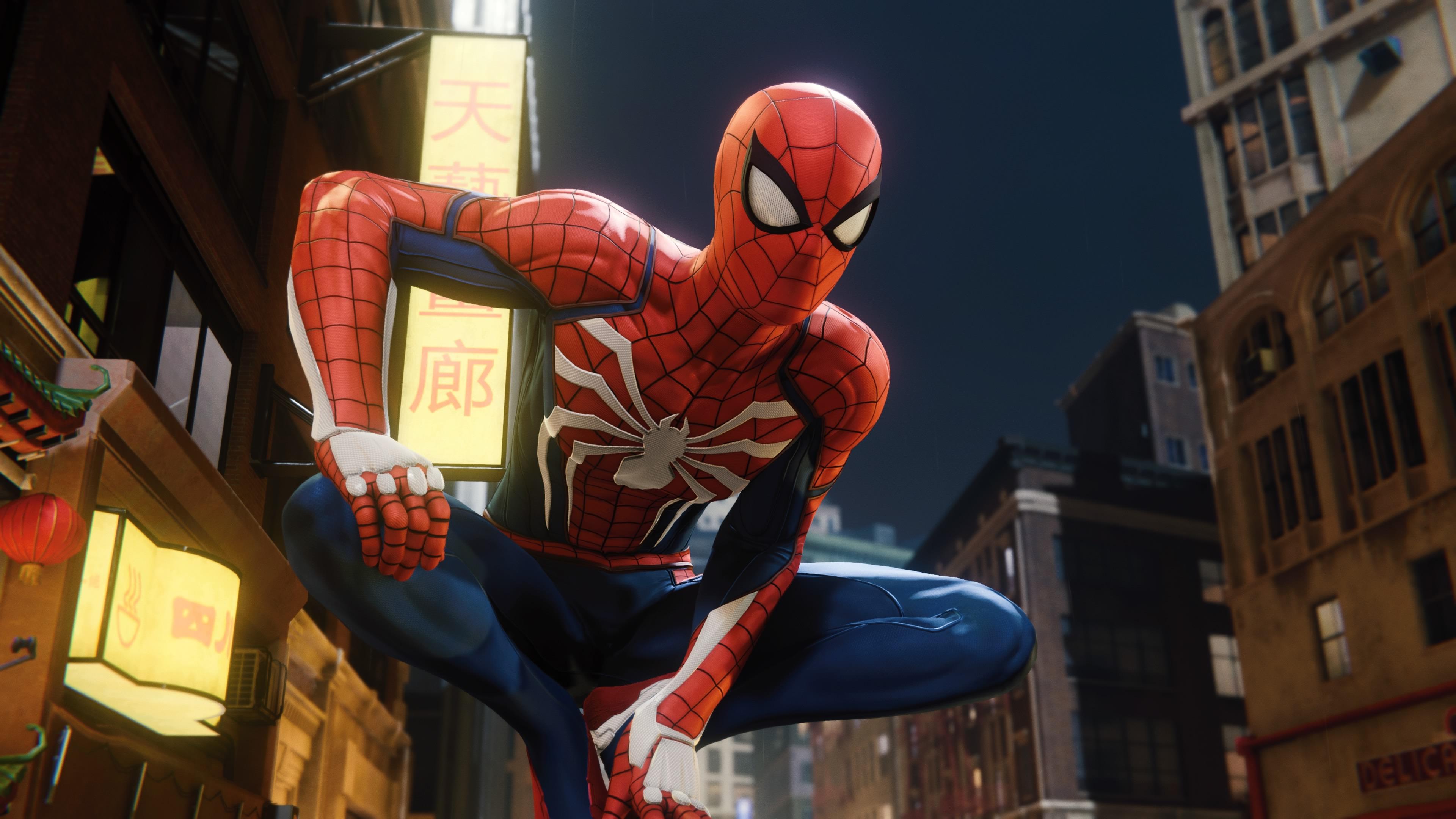 Человек-паук ps4 игры обои скачать