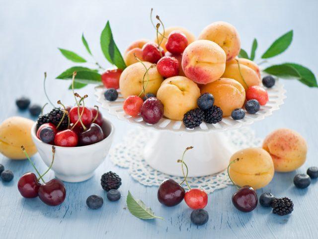 Абрикосы,  фрукты,  вишня,  черешня