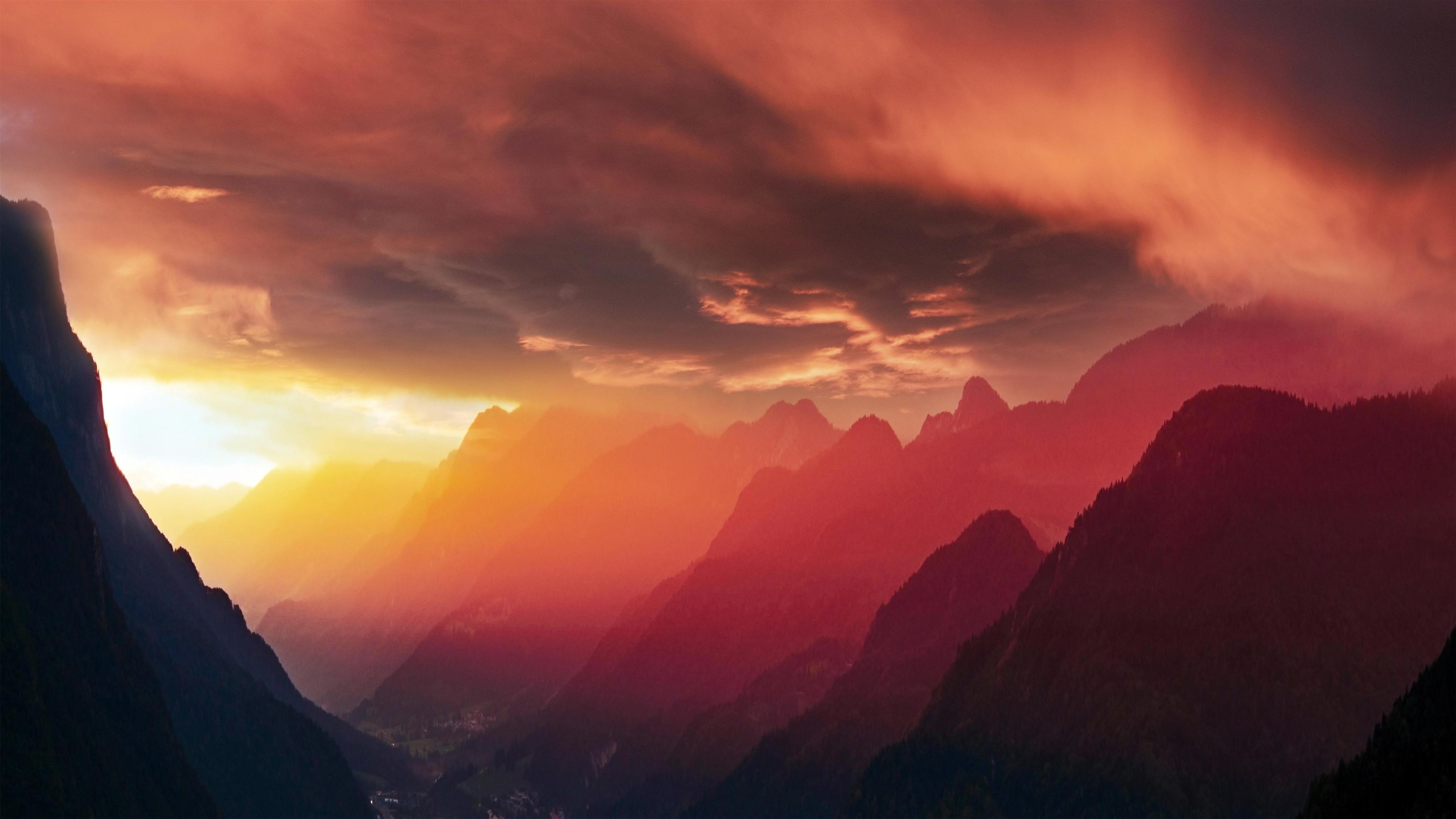Облачные горы обои скачать