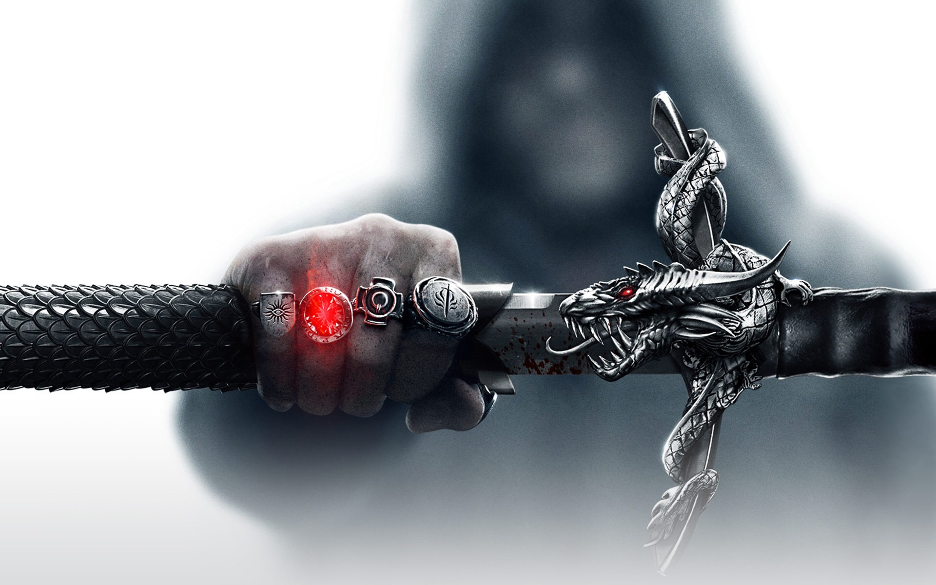Dragon Age 3: Inquisition, рука, перстни, магия обои скачать