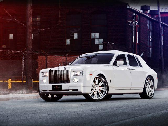 Rolls Royce,  Phantom,  white,  Роллс Ройс