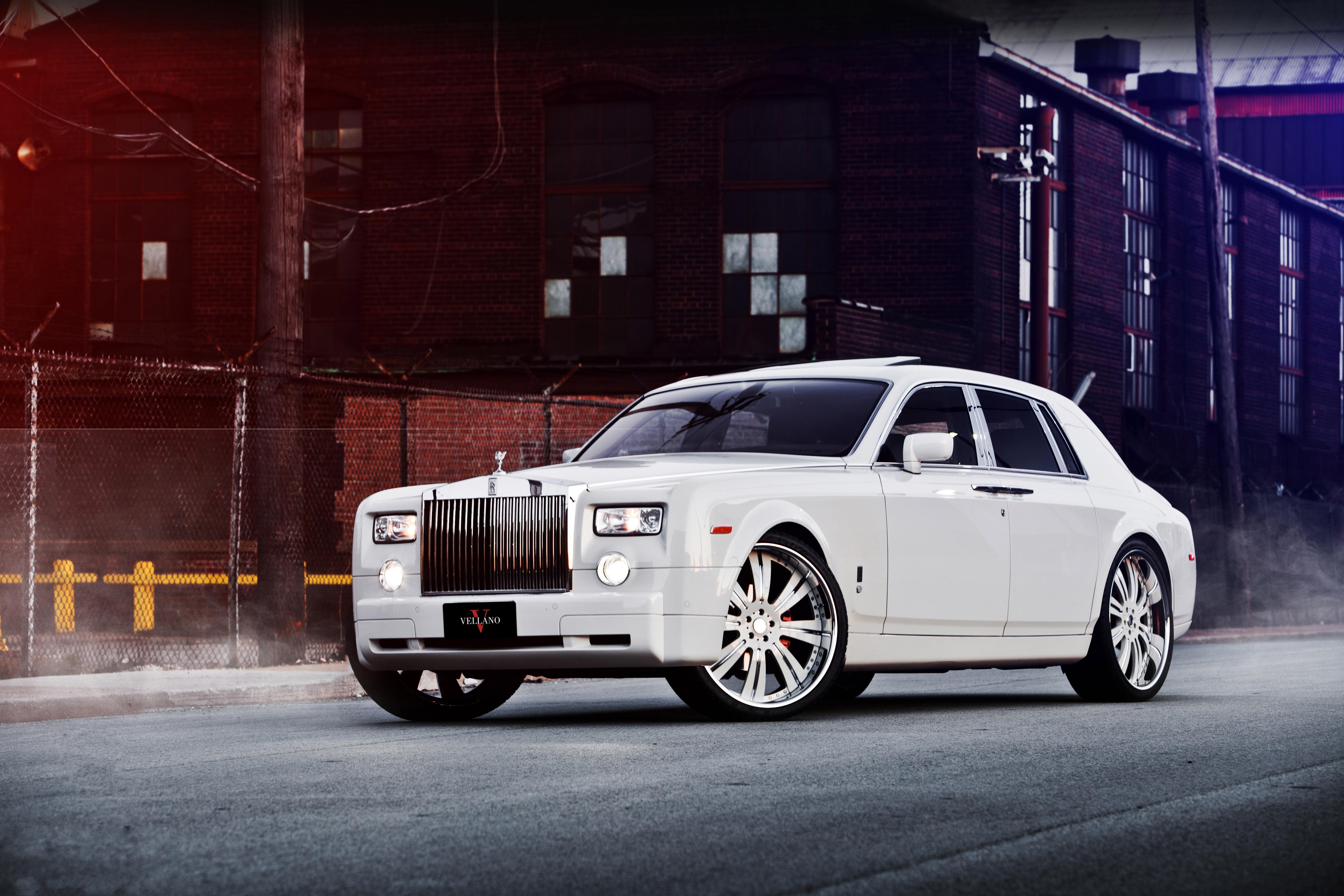 Rolls Royce, Phantom, white, Роллс Ройс обои скачать