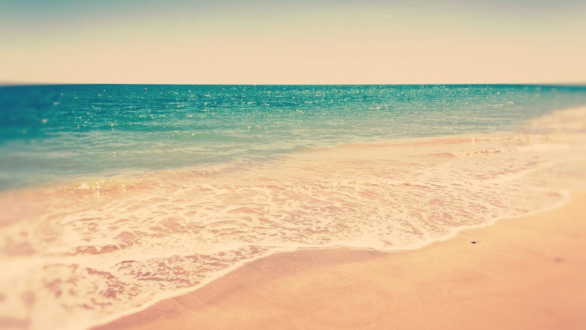 Чистый зеленый океан под белым небом в дневное время природа обои скачать