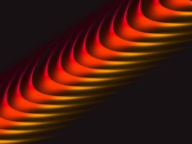 Красная желтая линия кривой волны аннотация