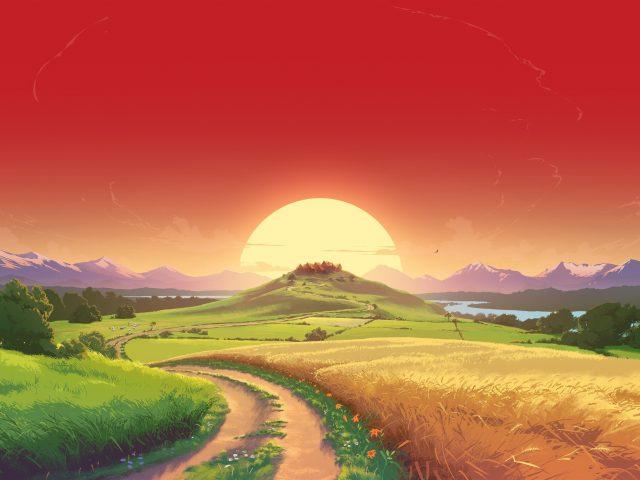 Игра CGI пейзаж