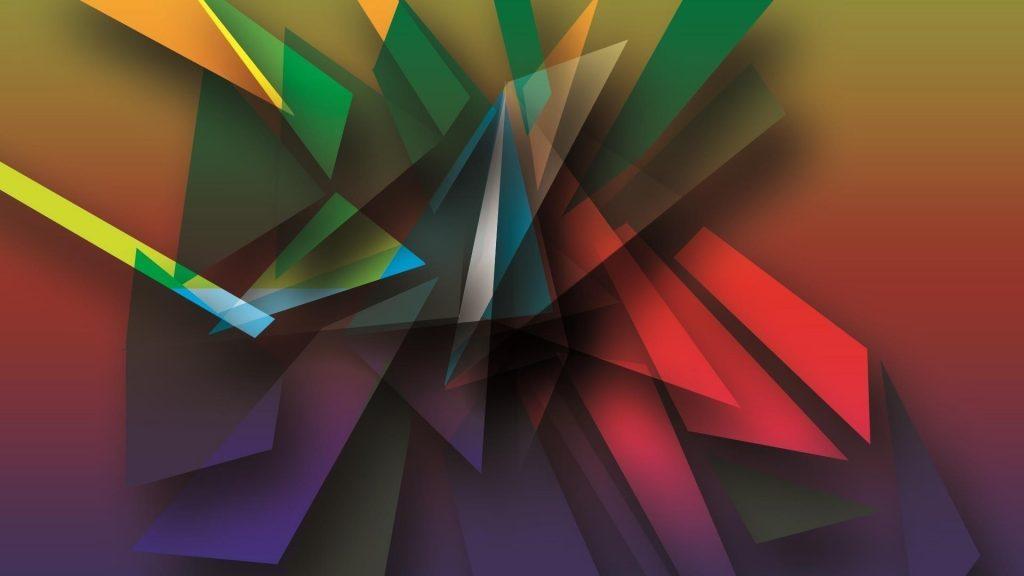 Цифровое искусство геометрия формы цвета абстракция обои скачать