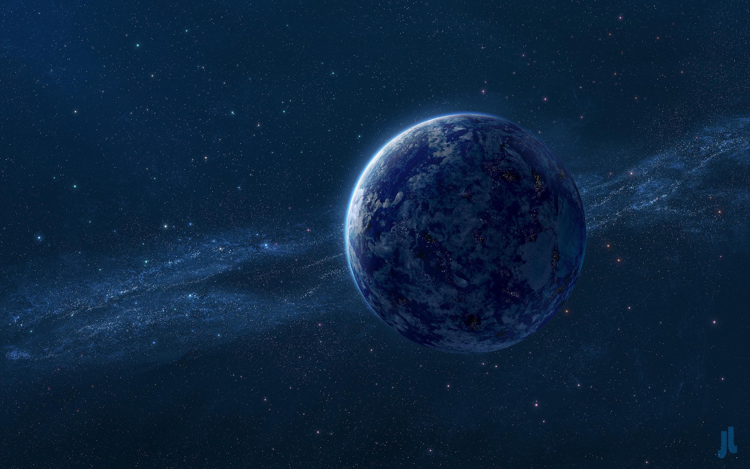 Голубая планета обои скачать
