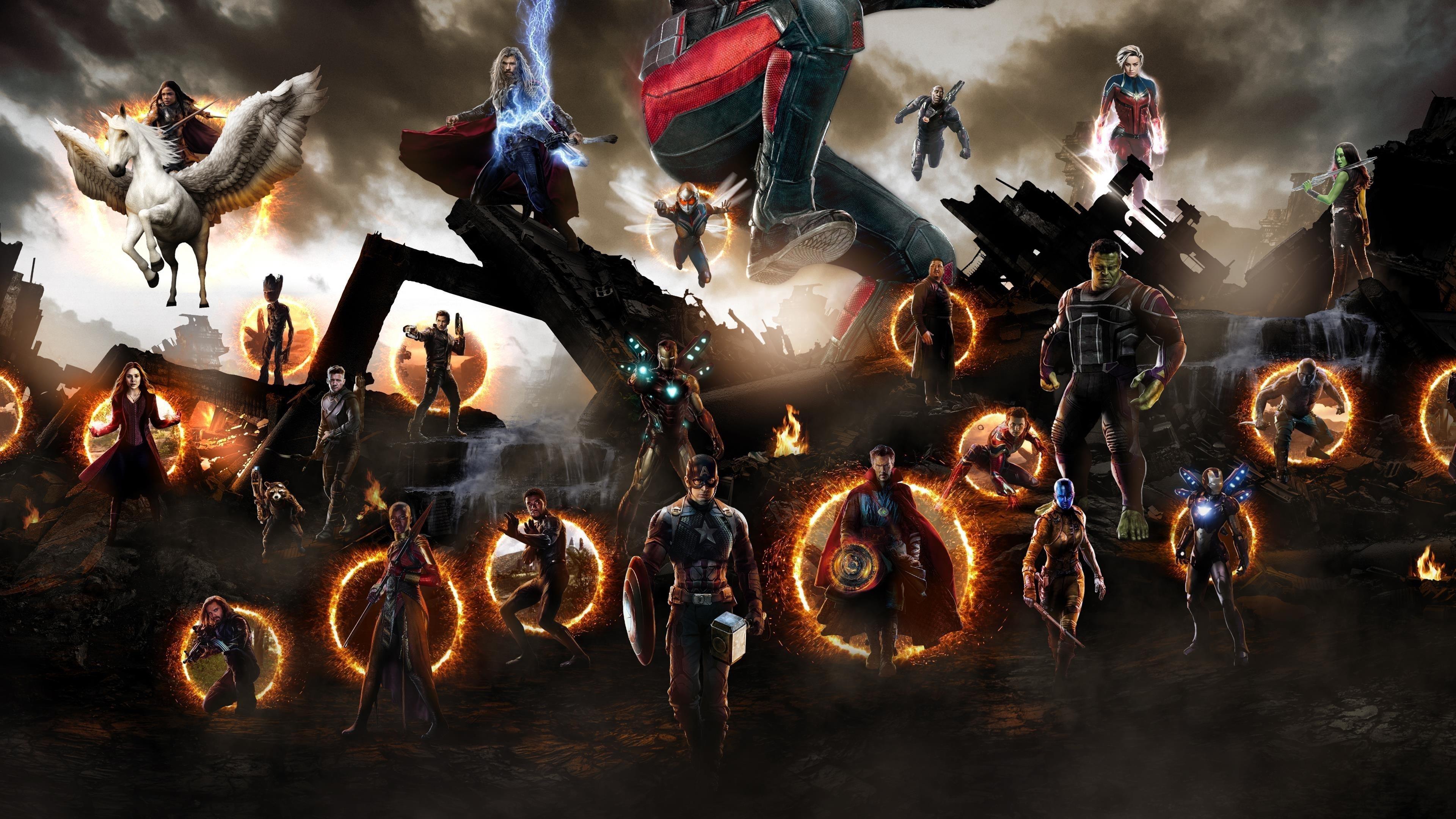 Мстители Эндшпиль финальная битва обои скачать