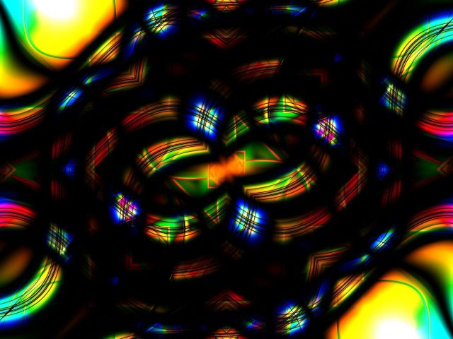 Красочные фрактальные линии узор абстракция абстракция