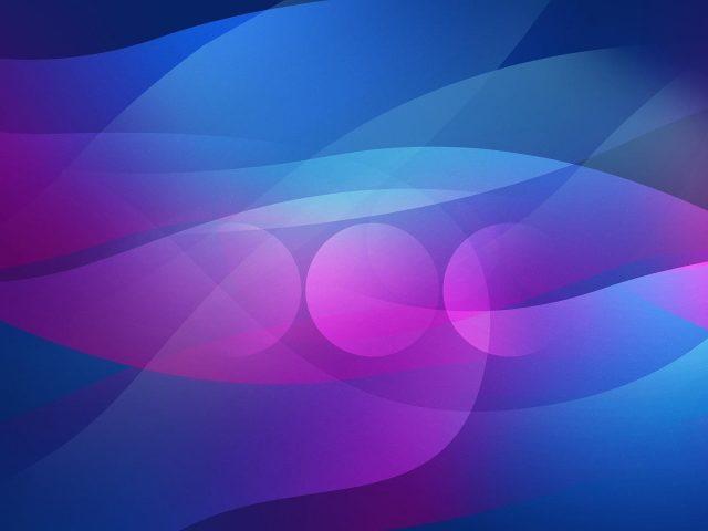 Розово-голубая пестрая волна абстрактная