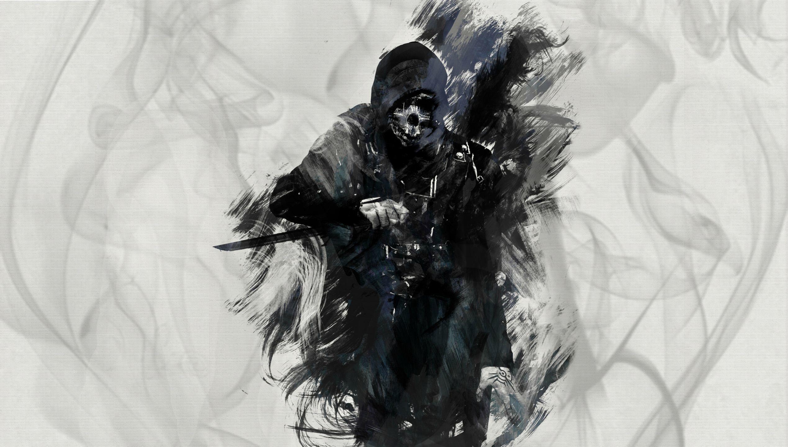 Dishonored, art, corvo attano, убийца обои скачать